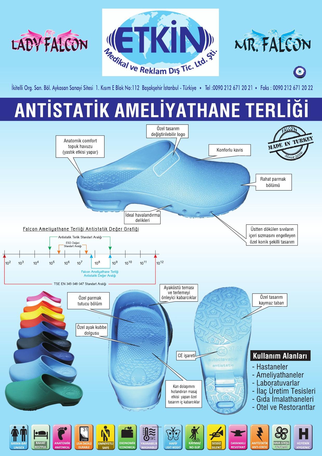 Antistatik Ameliyathane Terlikleri
